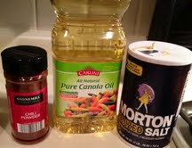 gather seasonings to cook fish with
